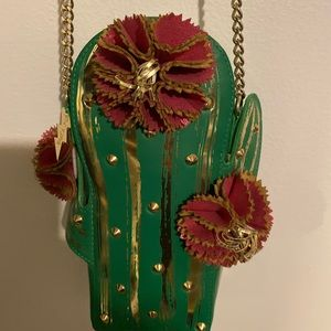 Brand new Betsey Johnson cactus purse